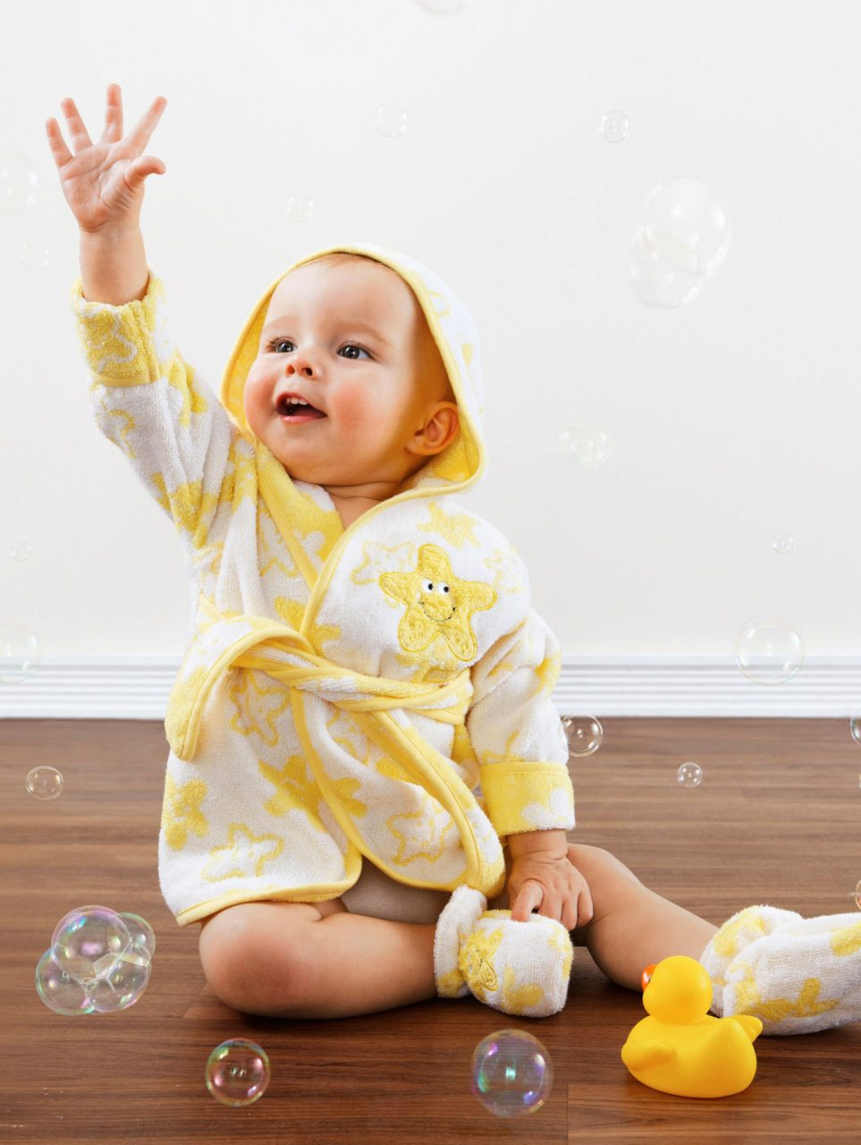 baby bubbles bathrobe