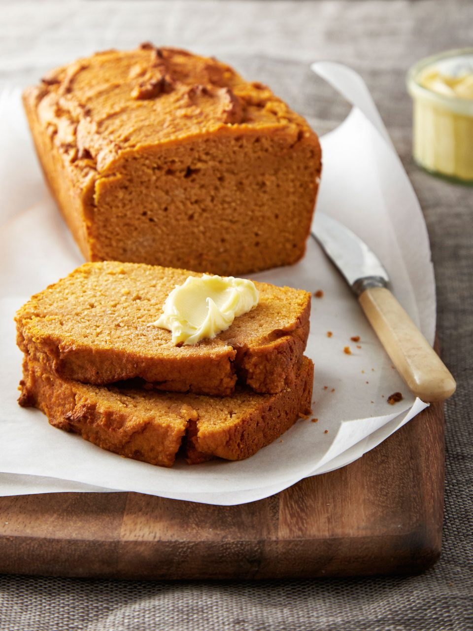 paleo sweet potato bread food photography