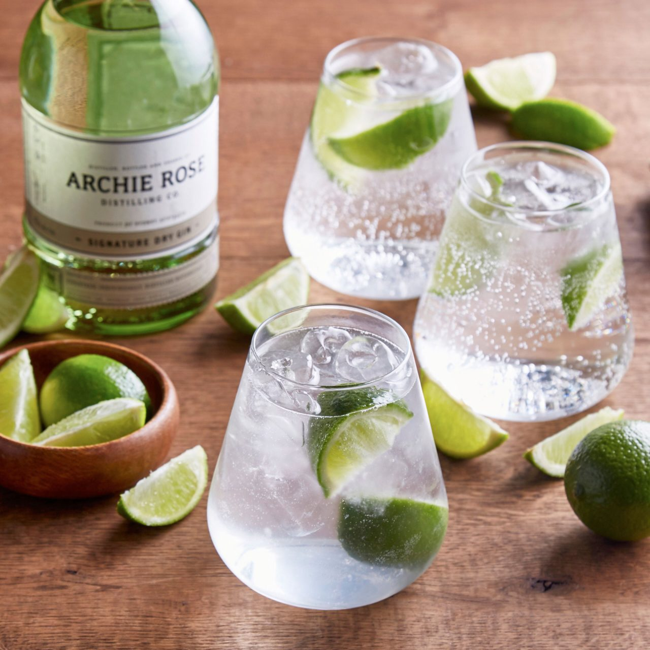 lime gin drinks photography
