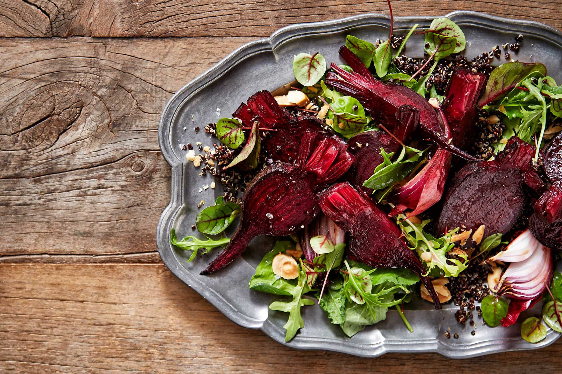 beetroot salad editorial food photography