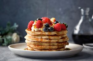 pancake stack food photography